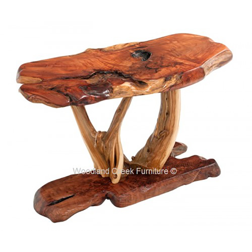 Rustic Sofa Table Made with Redwood and Juniper ST04447