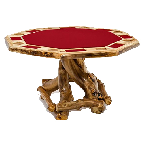 Rustic Game Table in Aspen Wood PG01205