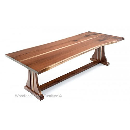 Live Edge Dining Table with Trestle Base DT00629