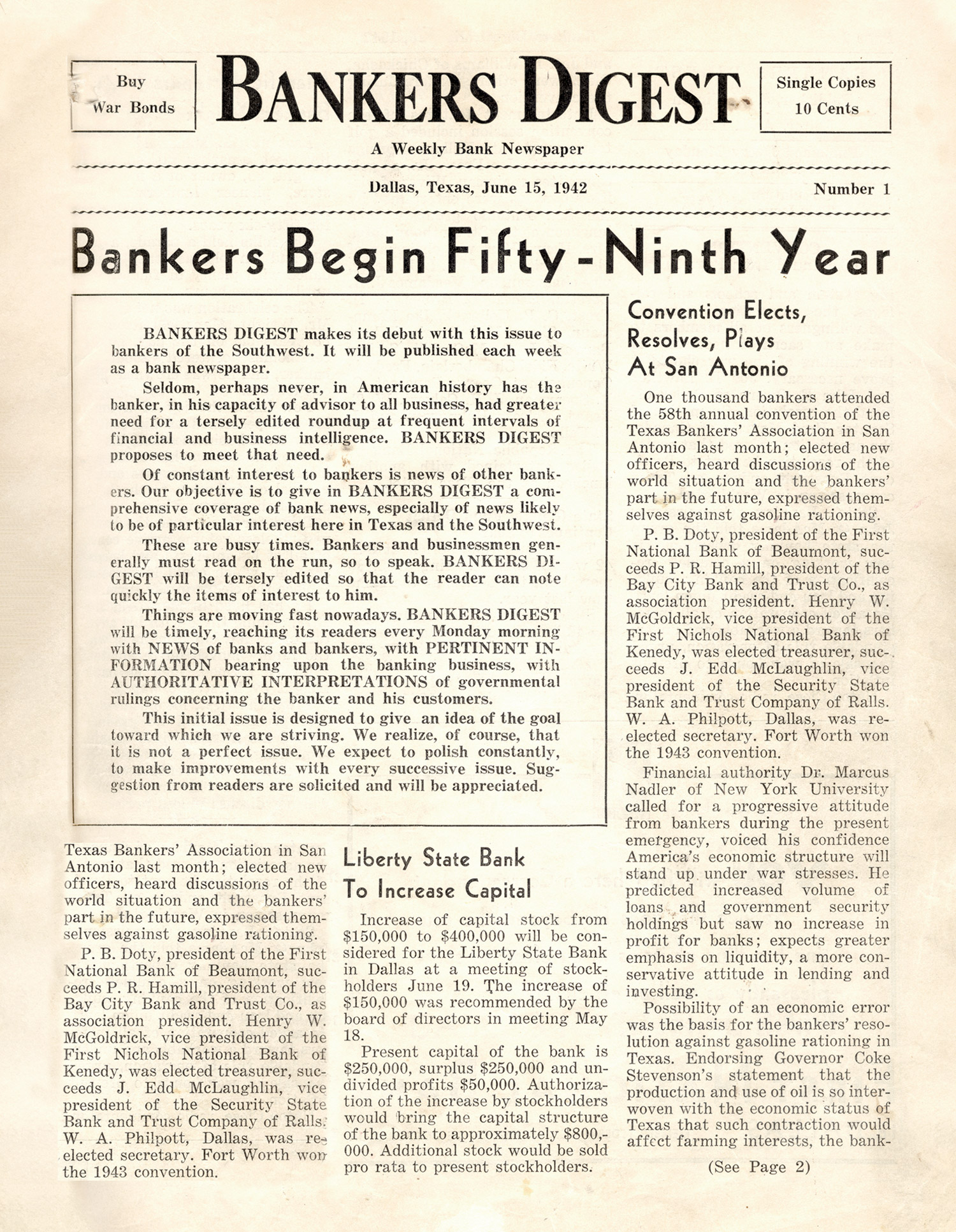 Bankers Digest Issue 1