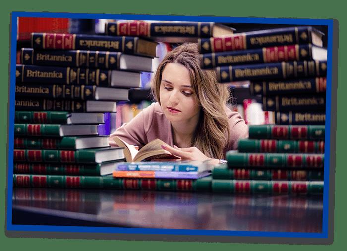 stressed girl reading