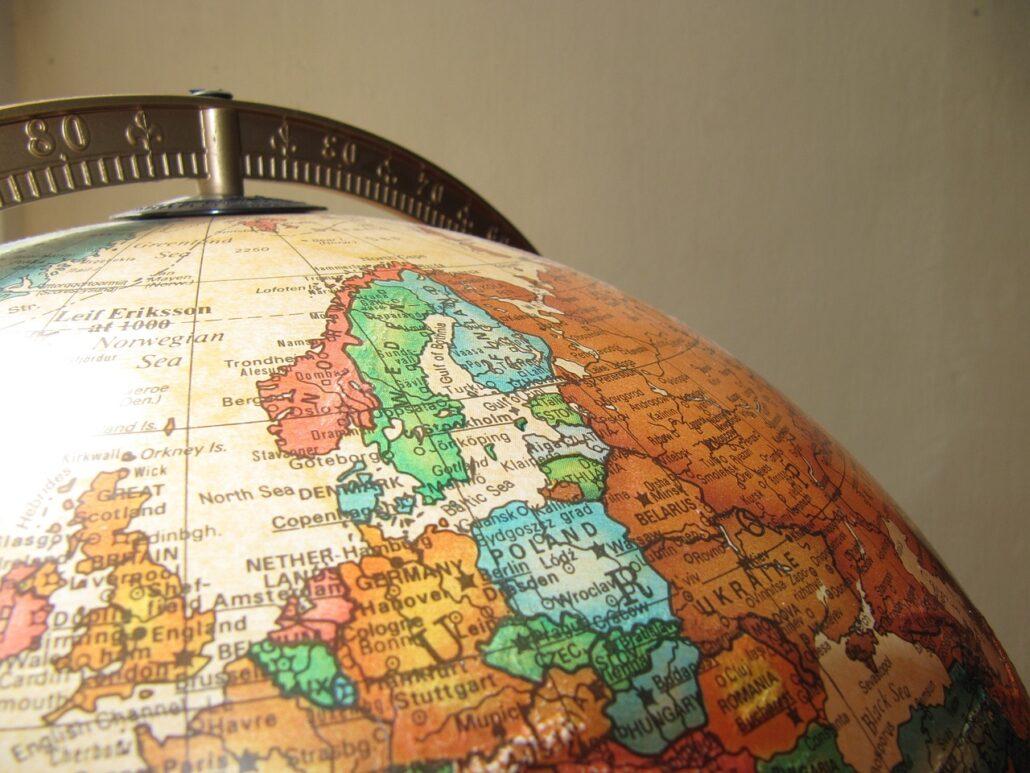 globe, earth, old globe