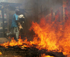 Suspect remanded in custody for burning girlfriend's child to death