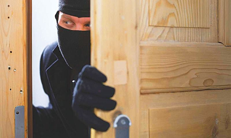 Greedy house robber overpowered and arrested