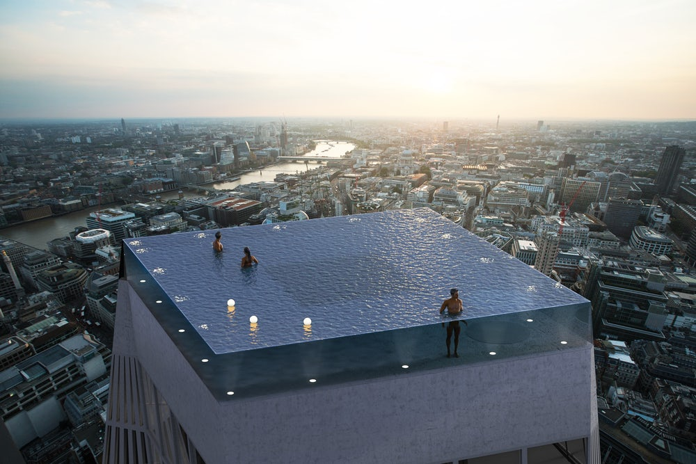 Must See Photos Of World's first 360-degree infinity pool in London