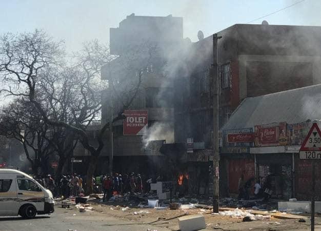 10 people arrested after Pretoria CBD unrest for possession of suspected stolen property