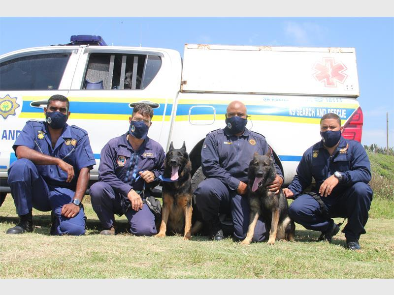 SAPS K9 search and rescue team is proactive and reactive