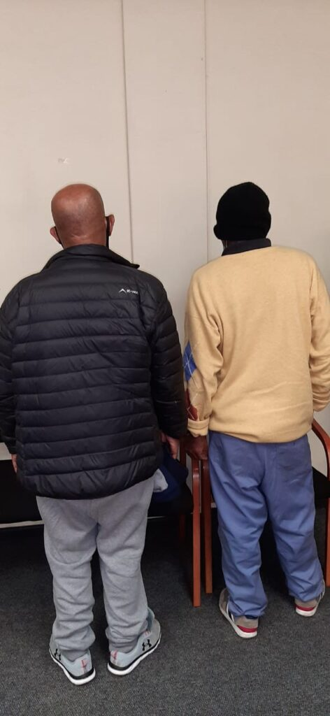 Two males aged 66 were arrested on charges of possession of unlicensed firearm and ammunition - Western Cape