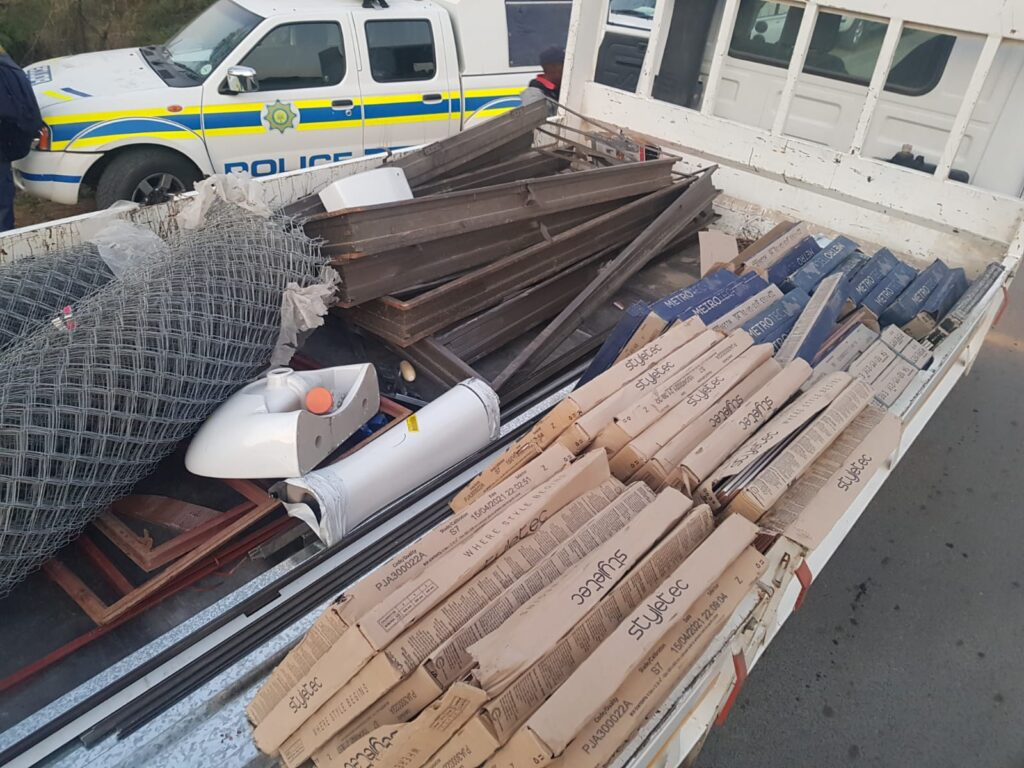An intelligence driven operation yields positive result as man arrested with stolen building material - Mpumalanga