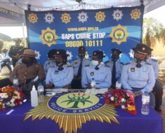 Ekurhuleni District SAPS members pay their last respect to the slain cop - Gauteng