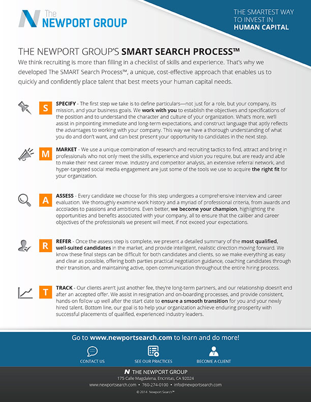 the smart search process