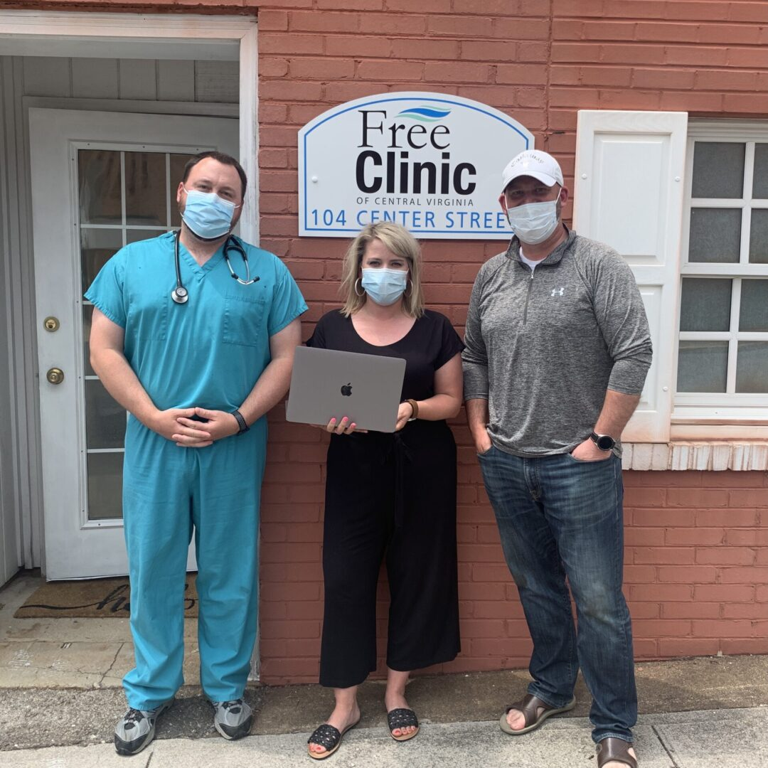 Dr. Boyd, Jill, and First Bedford Patient