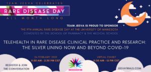 Jeeva Sponsors Rare Disease Day RDD event at University of Minnesota UMN 2021