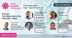 Jeeva CEO panelist on New Norm in clinical trials PRA Health Ssciences