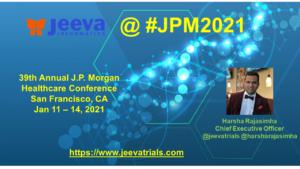 Jeeva To Attend- JPM2021