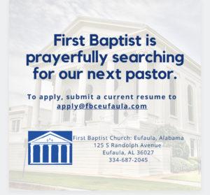 Pastor job post