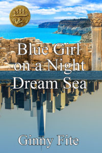 Blue Girl on a Night Dream Sea
