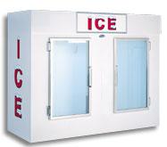model 100 upright indoor ice box