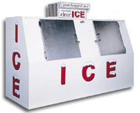 model 75 slant outdoor ice box