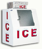 model 40 slant outdoor ice box