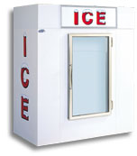 model 65 upright indoor ice box