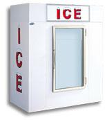 model 65 upright indoor ice box