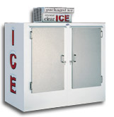 model 75 upright outdoor ice box