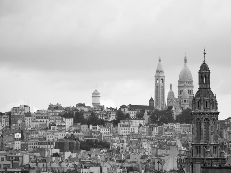 View of Paris from Printemps' rooftop