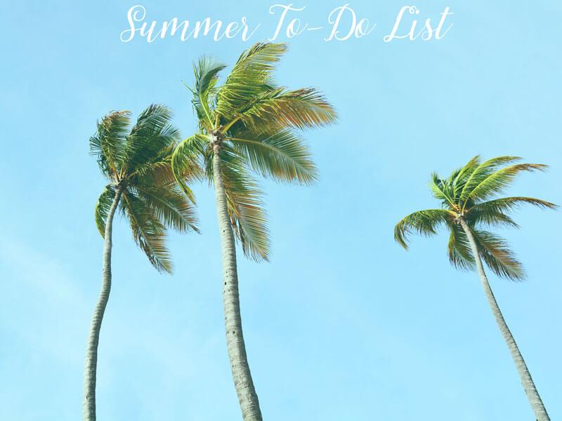 summer to-do list