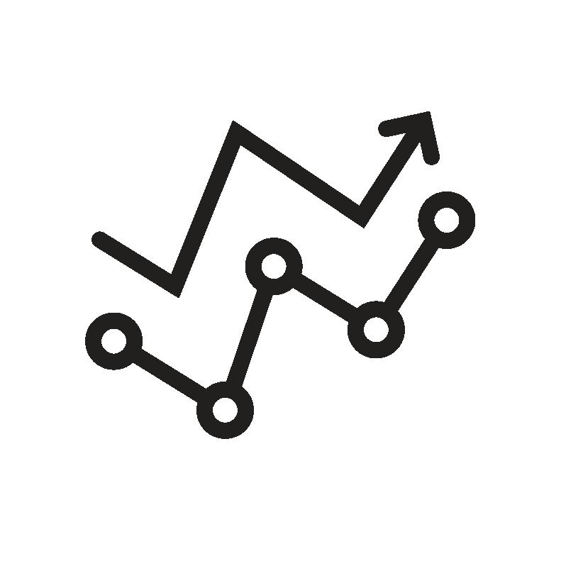 Arrows of digital connection increasing