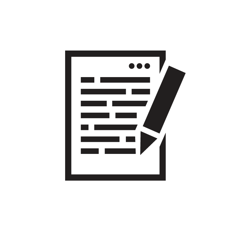 Content writing on digital lined paper