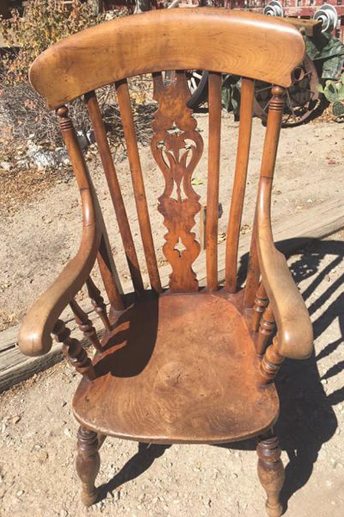 Large Antique Primitive Chair