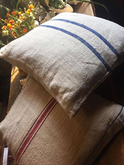 French Linen Sack Pillows