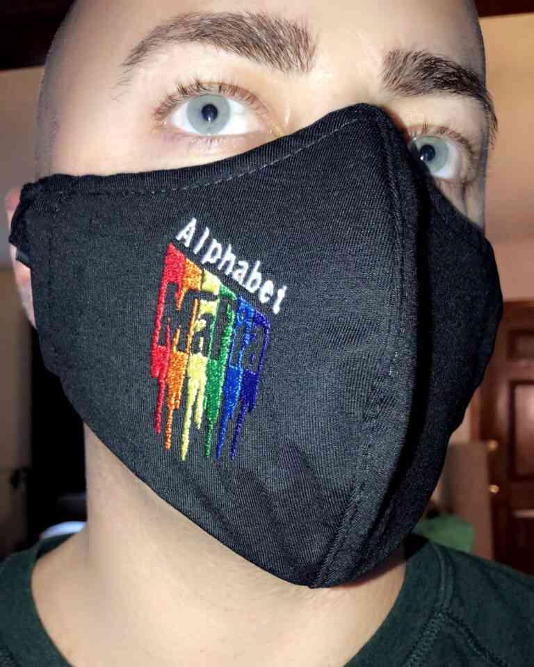Alphabet Mafia Face Mask photo review