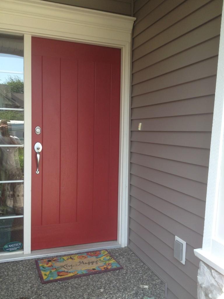 Front door repaint in Aldergrove, BC