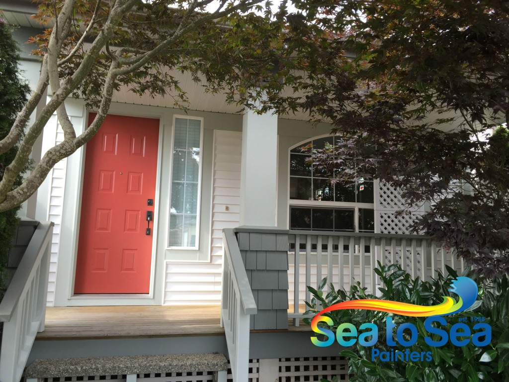 Front door painting in Clayton Heights, Surrey, BC