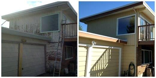 exterior house repaint in Maple Ridge, BC