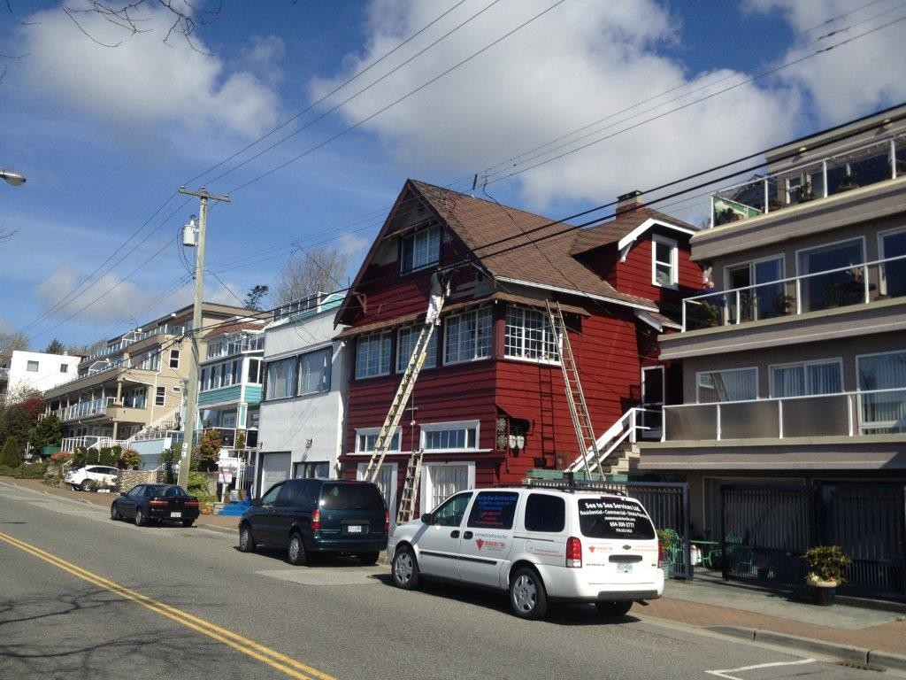 exterior heritage house repaint on Marine Drive in White Rock, BC