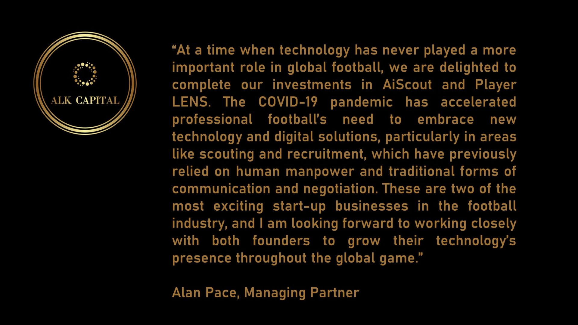 Alan Pace - Quote