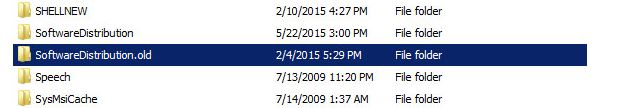 SoftwareDistribuationcontents-recreates folder