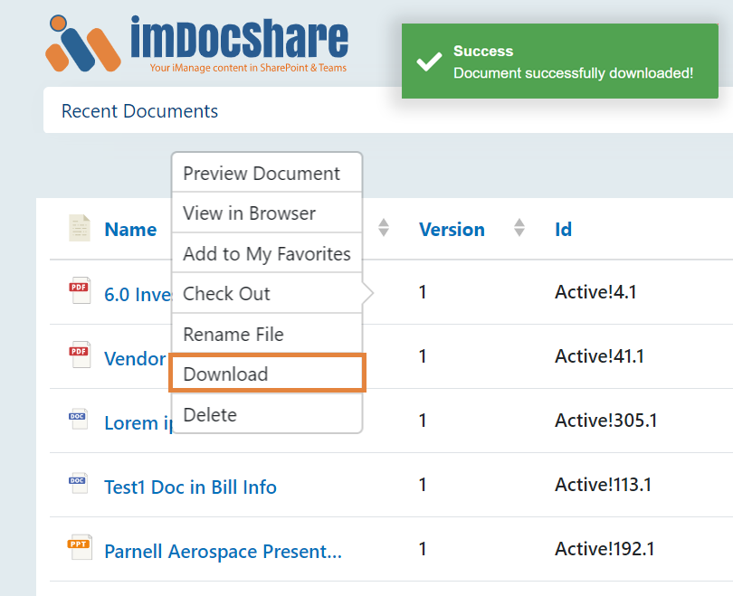 imDocShare-Feature-Download
