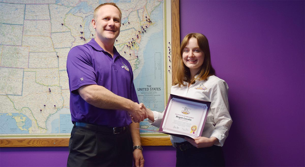 Image of New Dryer Vent Wizard Franchisee Megan Lavalle and Dryer Vent Wizard President Jason Kapica