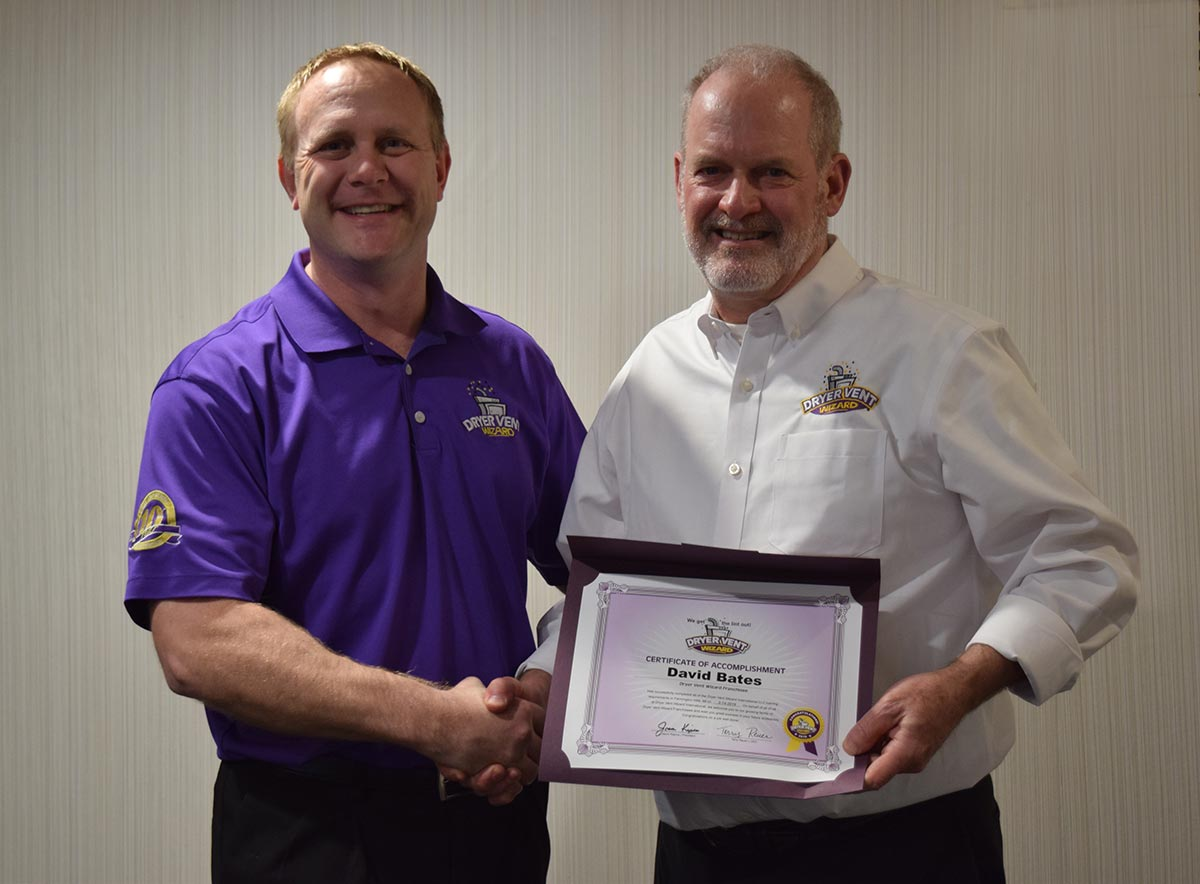 An image of new Dryer Vent Wizard Franchise Franchisee David Bates
