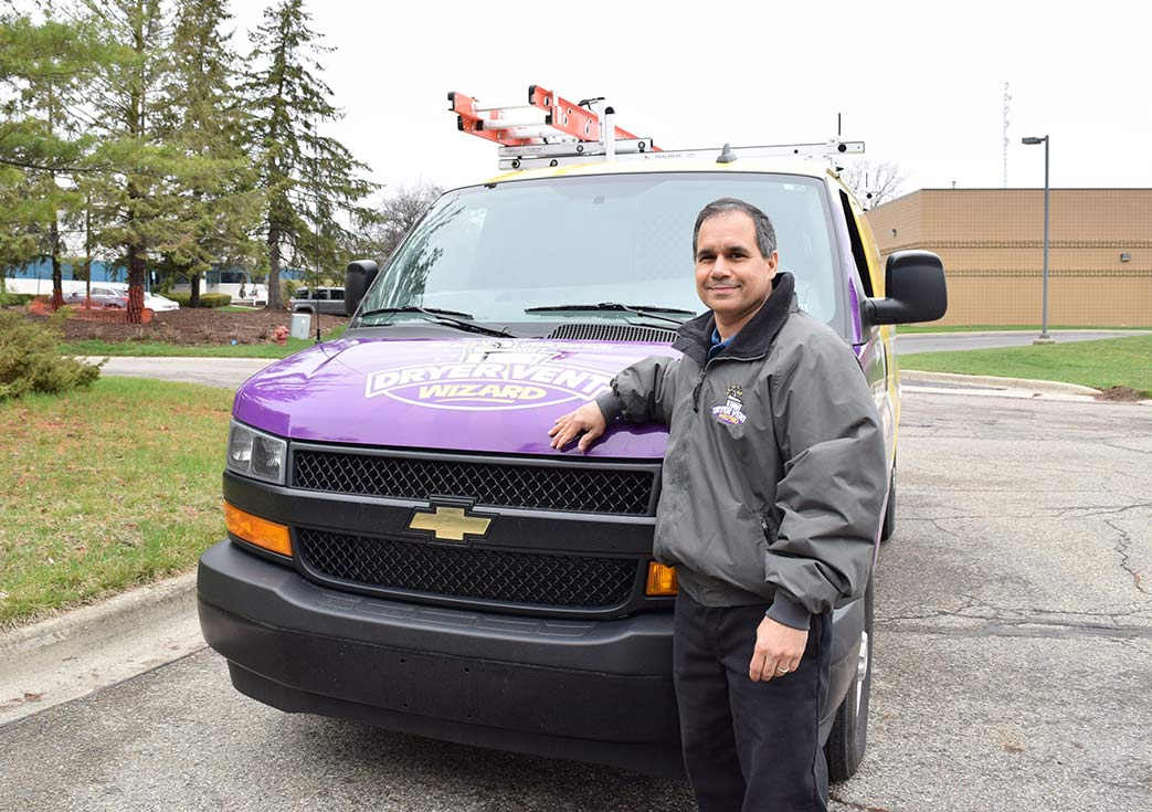 Image of Dryer Vent Wizard Owner and Van