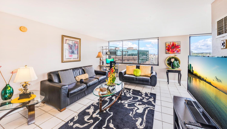 Penthouse104 Waikiki Hawaiian-large-008-Living Room-1500x859-72dpi