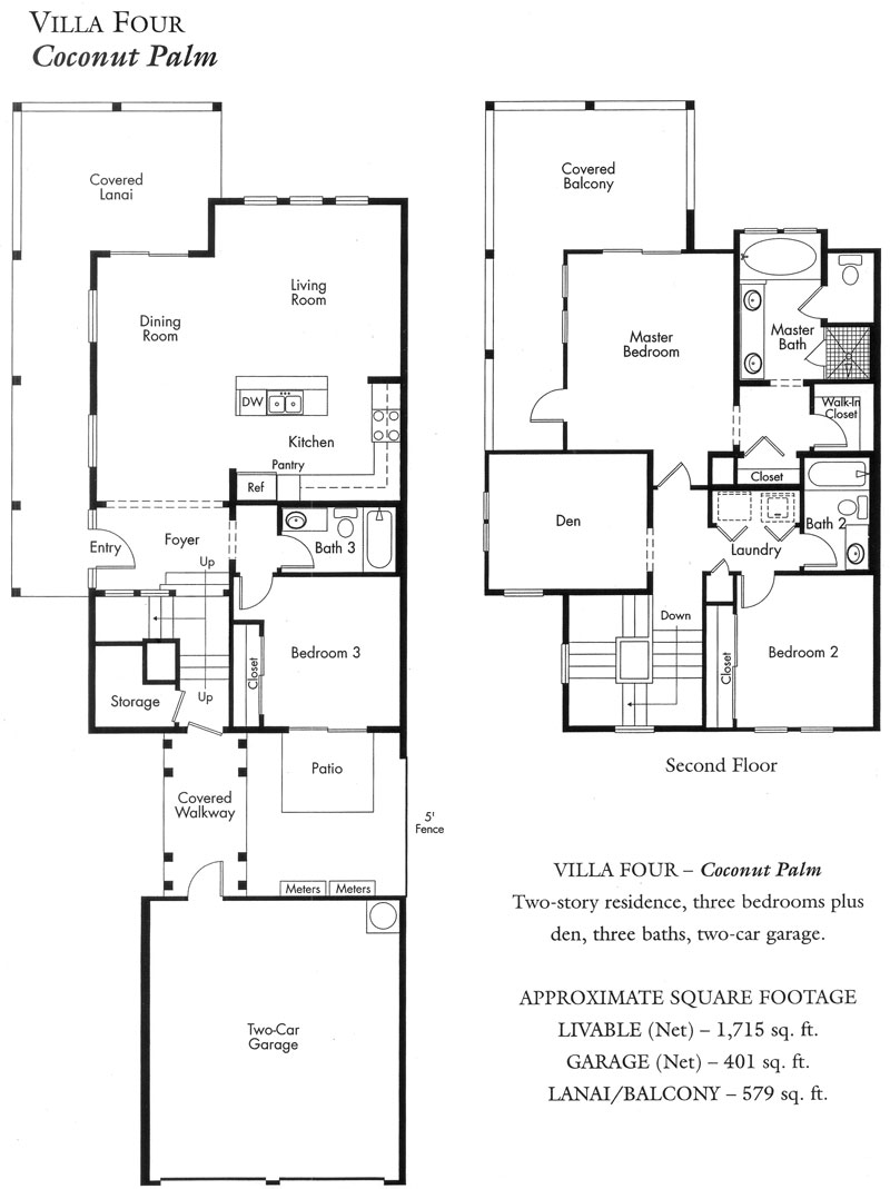 """Coconut Palm"" Villa plan"