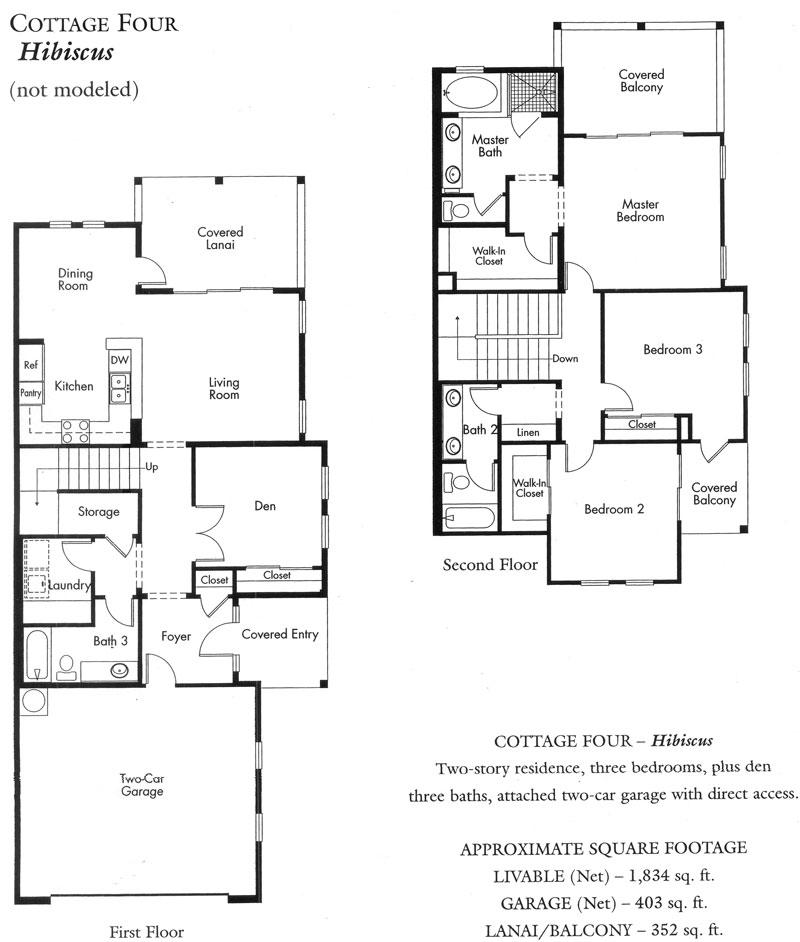 """Hibiscus"" Cottage plan - 2nd version"