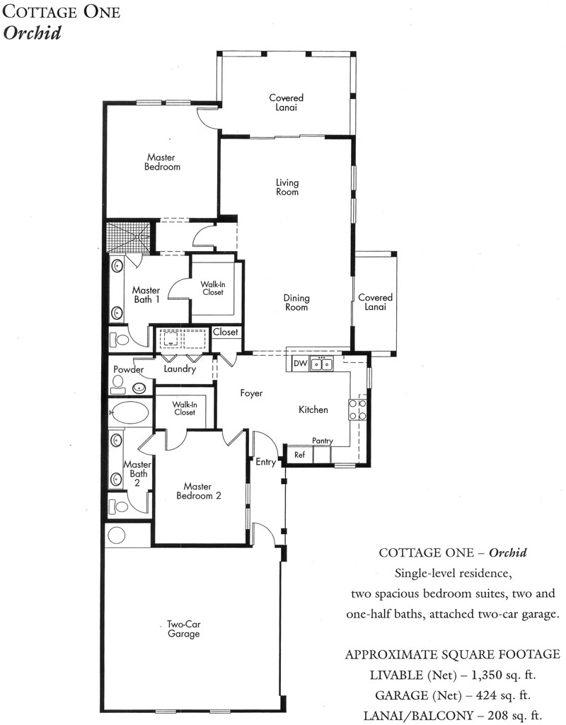 """Orchid"" Cottage plan"