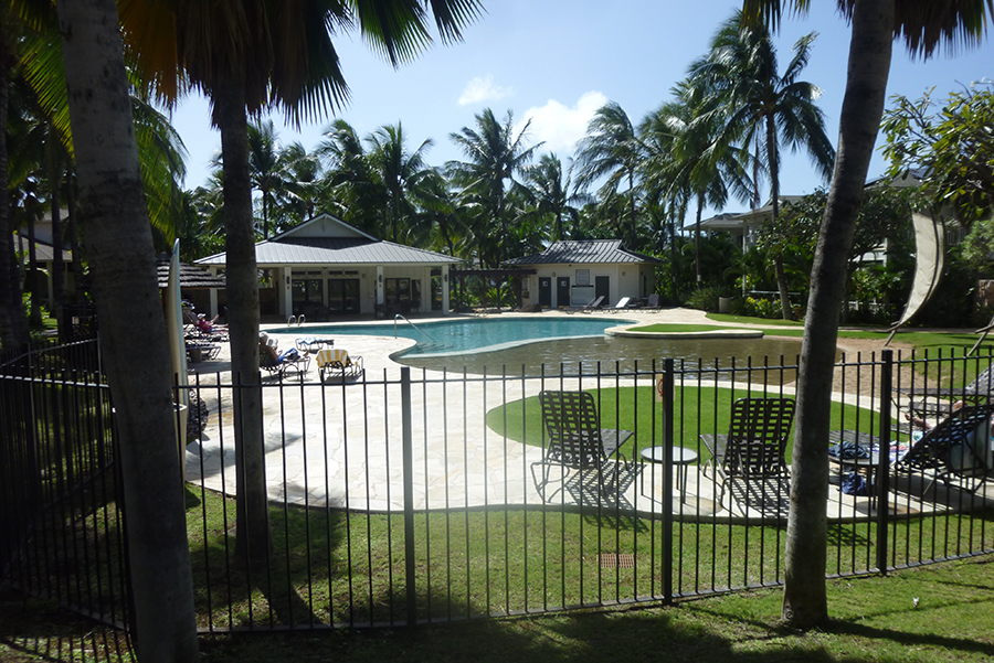 Pool access near front entrance of The Coconut Plantation. Available to all tenants and their guests.