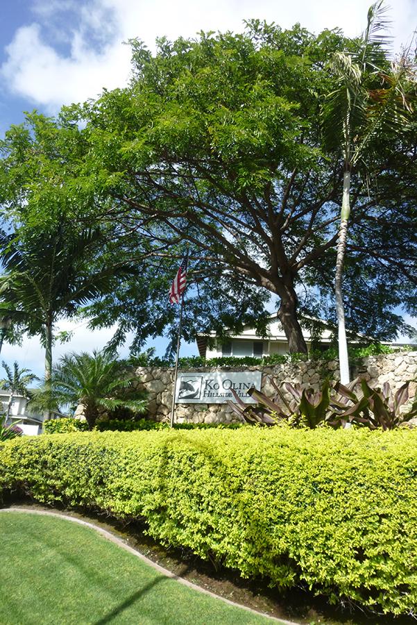 Entrance sign at the Ko Olina Hillside Villas